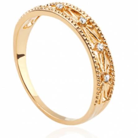 Bague femme plaqué or Dorilsa