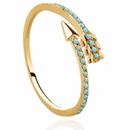 Bague femme plaqué or Dorys turquoise