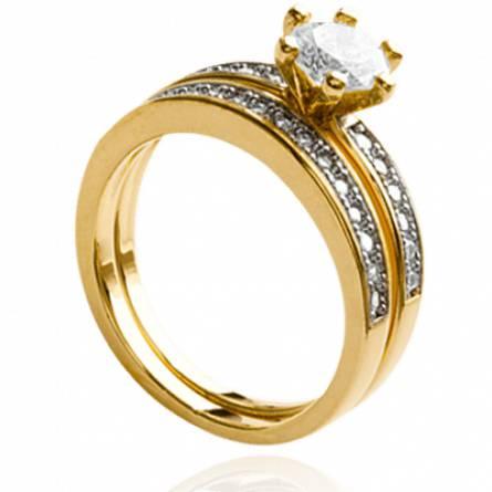 Bague femme plaqué or Elen
