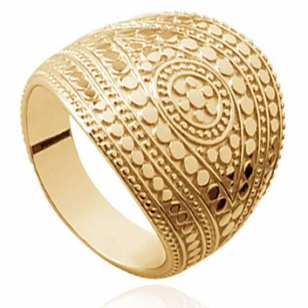 Bague femme plaqué or Empiriana