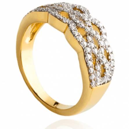 Bague femme plaqué or Etna