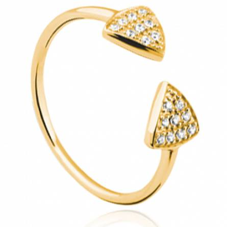 Bague femme plaqué or Evada triangle