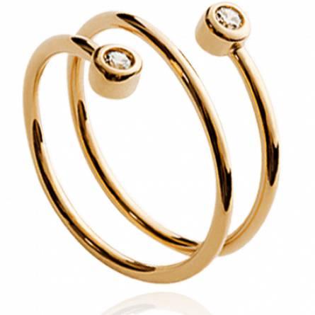 Bague femme plaqué or Irene spirale
