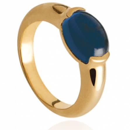 Bague femme plaqué or Kalia bleu