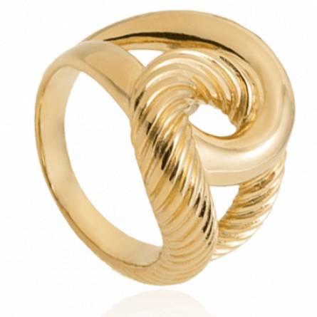 Bague femme plaqué or Lames