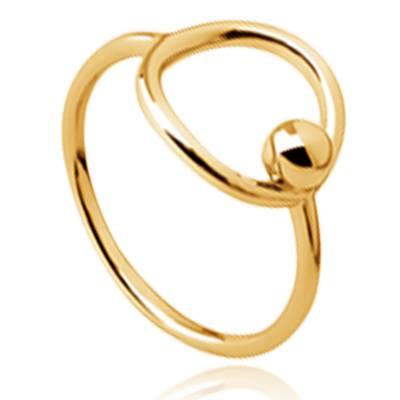 Bague femme plaqué or Lia