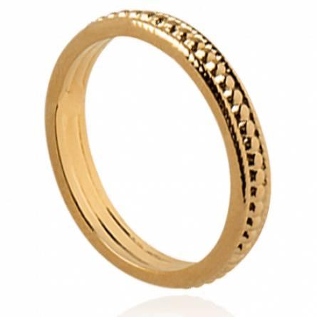 Bague femme plaqué or Lysa