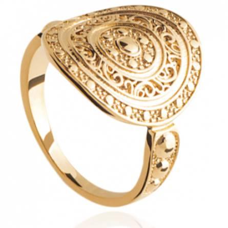 Bague femme plaqué or Maliel ronde