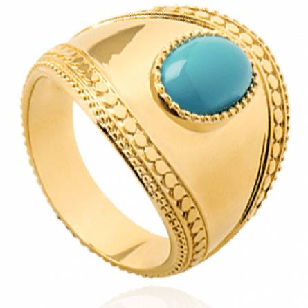 Bague femme plaqué or Marpessa bleu