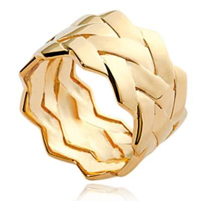 Bague femme plaqué or Naélie