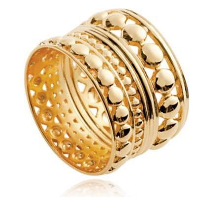 Bague femme plaqué or Nadège