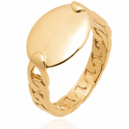 Bague femme plaqué or Naimo