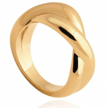 Bague femme plaqué or Noeuds