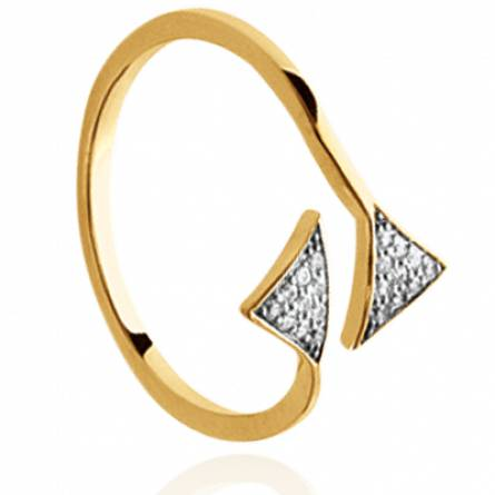 Bague femme plaqué or Nyssa triangle
