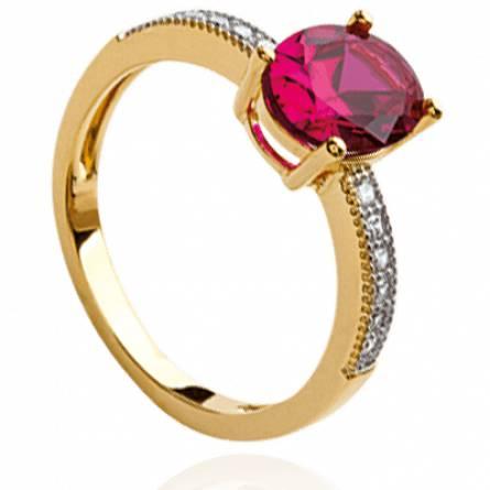 Bague femme plaqué or Otonia rose