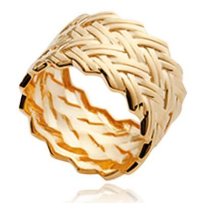 Bague femme plaqué or Romane