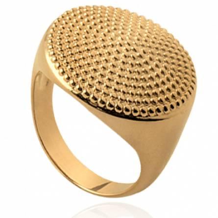 Bague femme plaqué or ronde