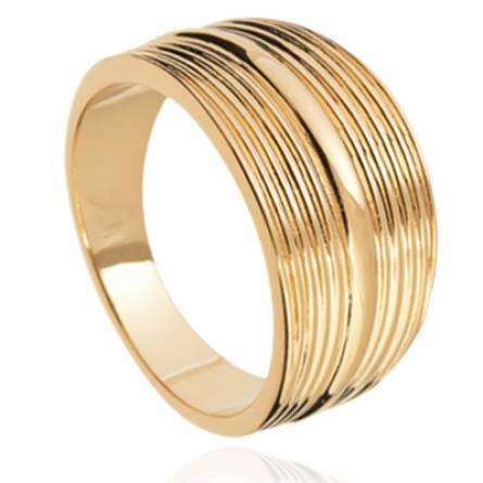 Bague femme plaqué or Sariel
