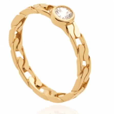 Bague femme plaqué or Silvane