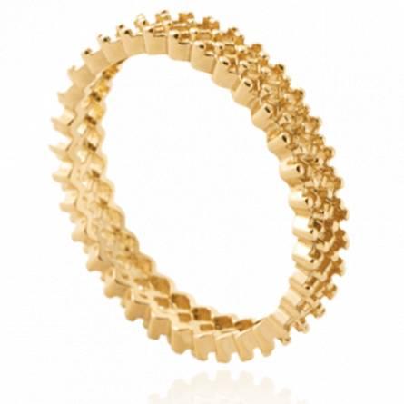 Bague femme plaqué or Tida