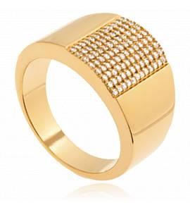 Bague femme plaqué or Zaya