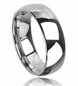 Bague homme tungstène anneau large