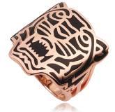 Bague Kenzo plaqué or rose Tiger Gringer