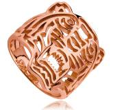 Bague plaqué or rose Tiger Lippy
