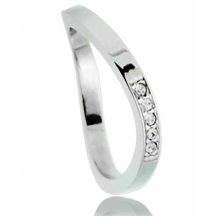 Bague wave brillant Clyda