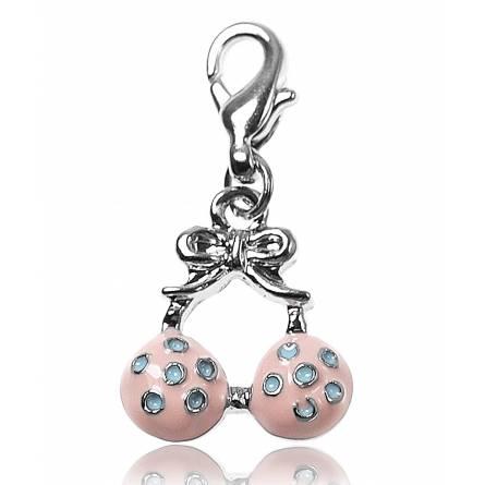 Bedels dames zilvermetaal  soutien gorge roze