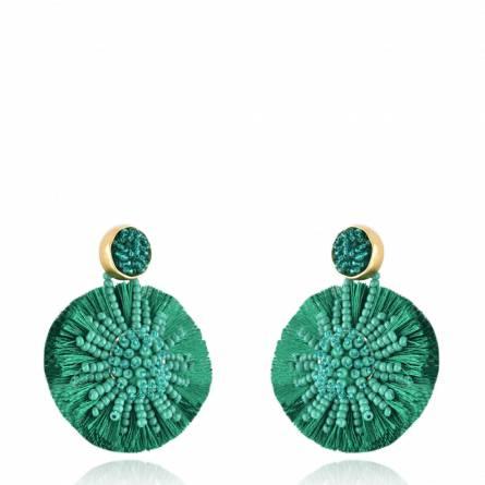 Blooming Sun Earring Green