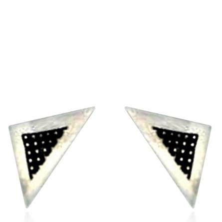 Boucle d'oreille Minimaliste triangle