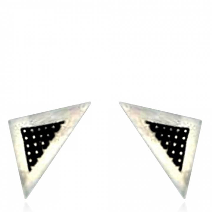 boucles d 39 oreilles homme minimaliste triangle argent. Black Bedroom Furniture Sets. Home Design Ideas