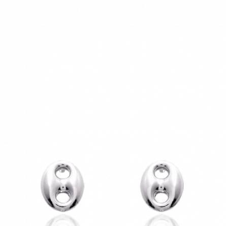 Boucles d'oreille argent grain de café