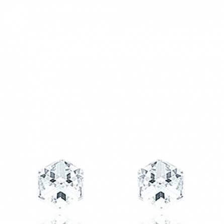 Boucles d'oreilles Argent Cristal Blanc