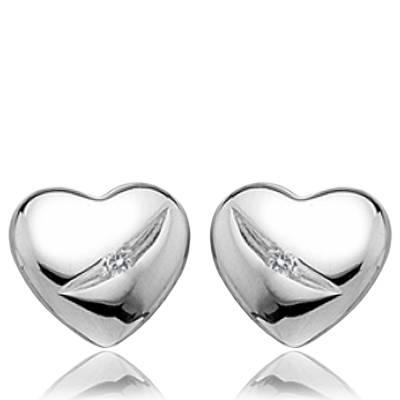 Boucles d'oreilles argent eclat diamant