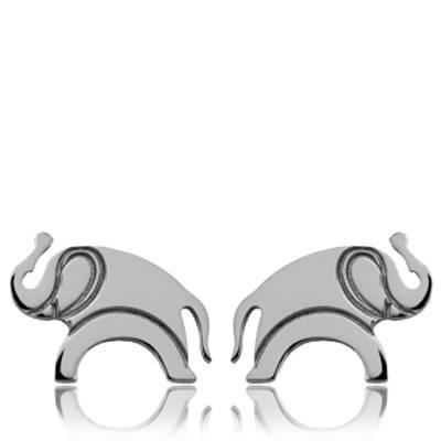 Boucles d'oreilles argent Kenzo éléphant Lutet