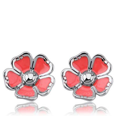 Boucles d'oreilles argent Kenzo fleur Phaela