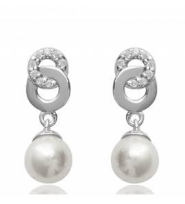 Boucles d'oreilles Argent Perle Cecile