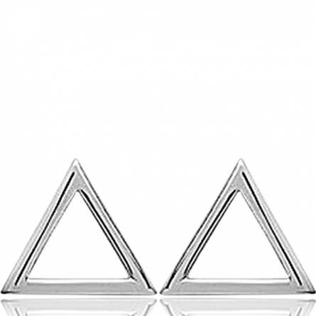 Boucles D'oreilles Argent Rhodié Triangle Lana