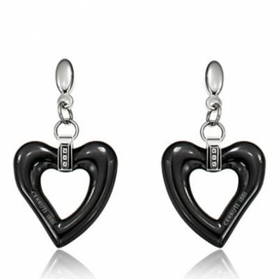 Boucles d'oreilles Cerruti acier Céramique Noir Shanice