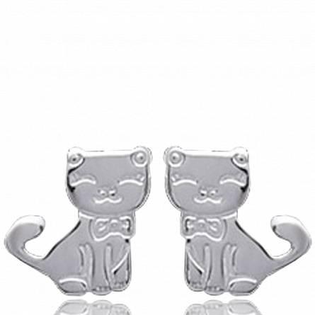Boucles d'oreilles chat malice