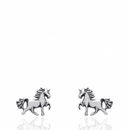 Boucles d'oreilles cheval splendide