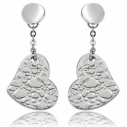 Boucles d'oreilles coeur de pierre Uta