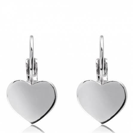 Boucles d'oreilles coeur lisse