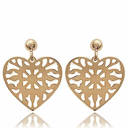 Boucles d'oreilles coeur perçant