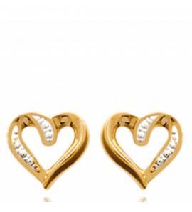 Boucles d'oreilles coeur sierra