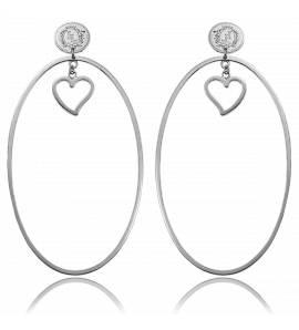 Boucles d'oreilles créoles argentées Lolita Lempicka Nance