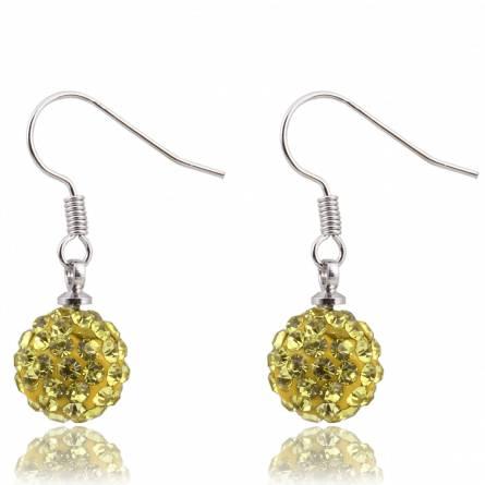 Boucles d'oreilles cristal jaune Paoli