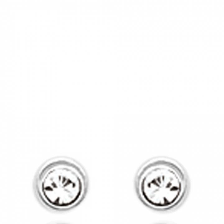 boucles d 39 oreilles ronde femme lune 1 argent. Black Bedroom Furniture Sets. Home Design Ideas